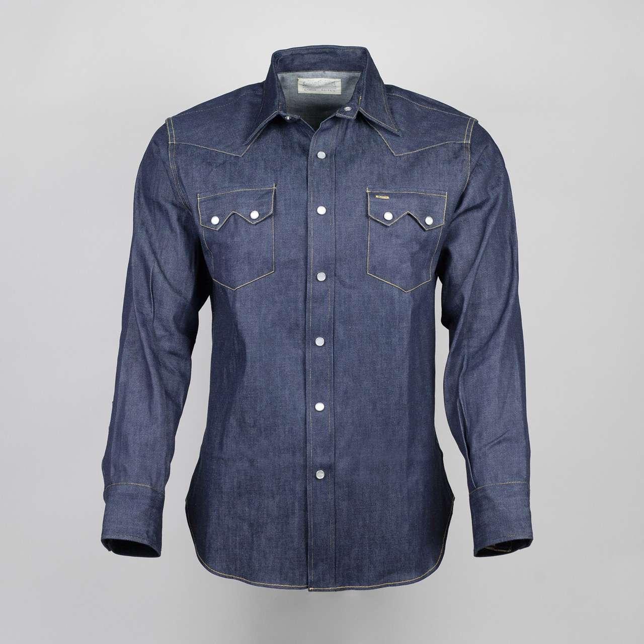 32c25697055 Sugar Cane Western Shirt 8z Denim